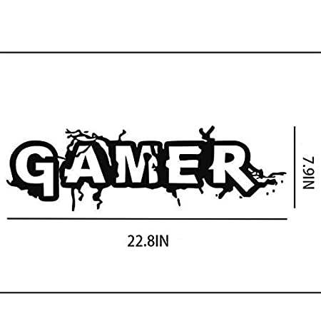 Holly LifePro Gamer Wall Decal Poster Lettering Wall Stickers Murals for Boys Bedroom Playroom Art Design Stickers Wall for Home Playroom,style7 22.4X7.4IN