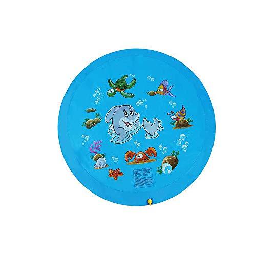 XYBB Piscina Niño Inflable Splash Juego Piscina Divertida Agua Jugando Aspersor Mat Yards Al Aire Libre Verano PVC Minis Redondo Spray Piscina Diámetro 172 cm Azul