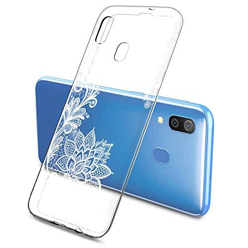 Suhctup Custodia Compatibile per Samsung Galaxy J1Mini / J105, Cover Galaxy J1Mini Silicone Trasparente con Disegni [ Pizzo ], Ultra Slim TPU Morbido Antiurto Antigraffio Case