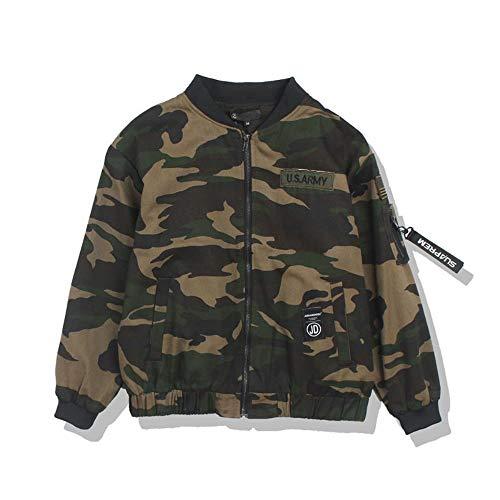 AOONE Stickerei Camouflage Bomberjacken Herren Reißverschluss Military Army Green Camouflage Bomberjacken Männliche dünne Jacken, Cam