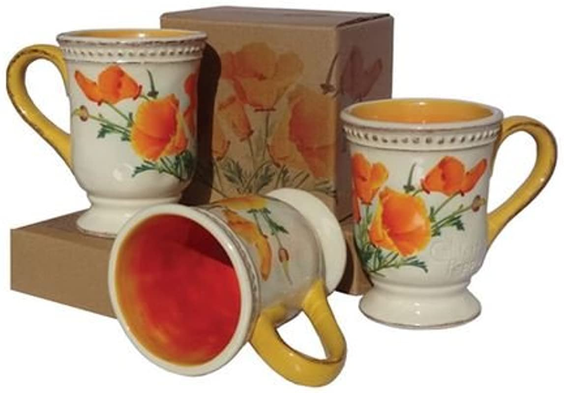 SF California State Flower Poppy Coffee Mug