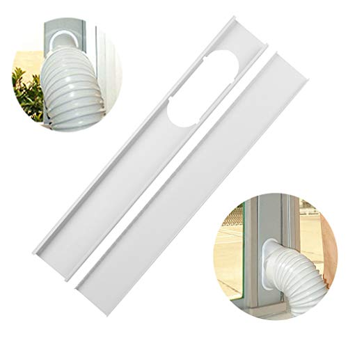 Air Conditioner Hose. Mobile air Conditioner Universal Adjustable Window Sealing Plate Splint Baffle -Great for LG, Delonghi and Many More Portable Air Conditioners. (White, 20CM) (Window Vent Kit For Lg Portable Air Conditioner)