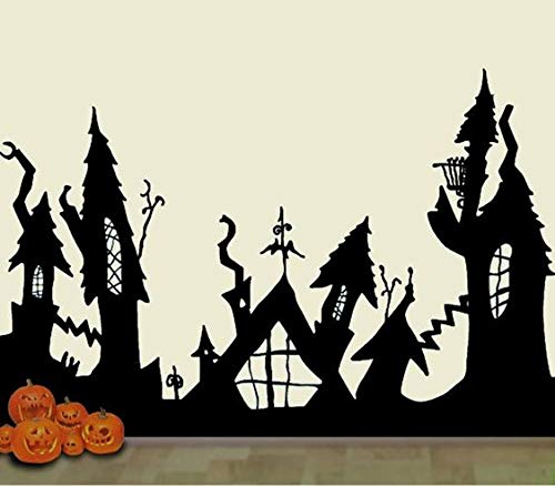 HalloweenTown Nightmare Before Christmas Wall Decal Mural Scary Dcor 30x22 Inches Message for Size