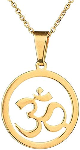 banbeitaotao Collar Antiguo de Oro Indio Collar hindú Budista Colgante hinduismo Yoga India joyería Vintage Mujeres