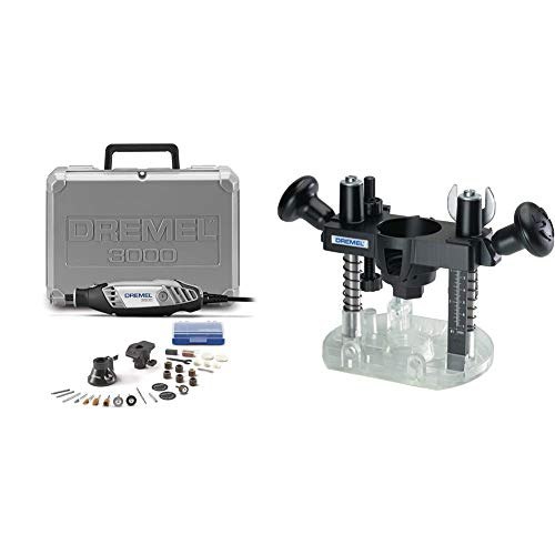 Dremel 3000-2/28 Variable Speed Rotary Tool Kit & 335-01 Rotary Tool Plunge Router Attachment – Perfect for Wood