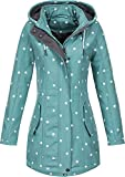 Top Fuel Fashion Damen Softshell-Kurzmantel IVANA - green/white dots