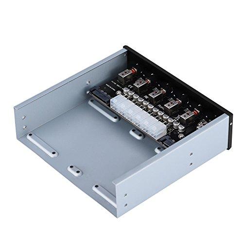 Interruptor de alimentación del Disco Duro, Interruptor de Unidad SATA Interruptor de alimentación de plástico + Metal con 6 interruptores autoblocantes Interruptor SATA, selector de Unidad
