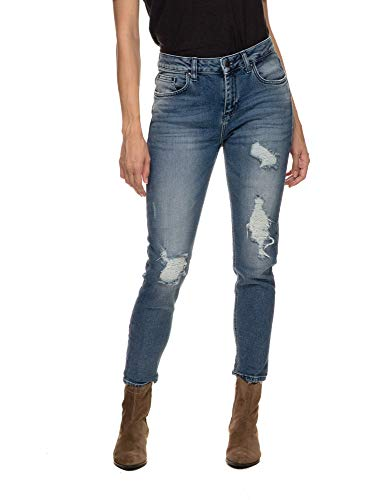 LTB Jeans Women's Mika Jeans Crop Blue in Size 27W