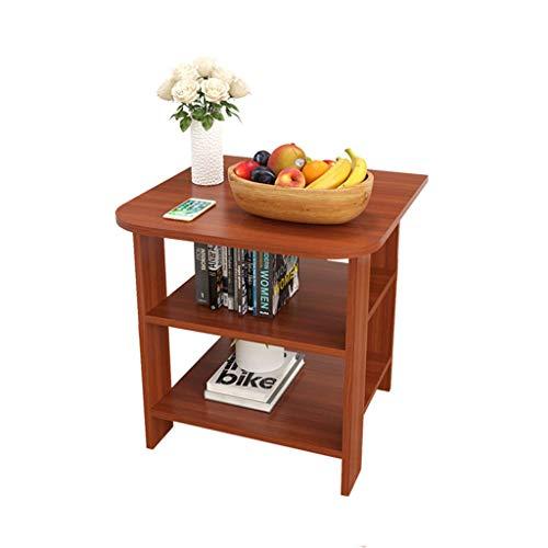 ZPWSNH kleine cofee tafel/bank zijtafel/nachtkast/nachtkastje 3-laags plank plank compacte stijl grootte (50 * 50 * 50cm) opvouwen kleine tafel