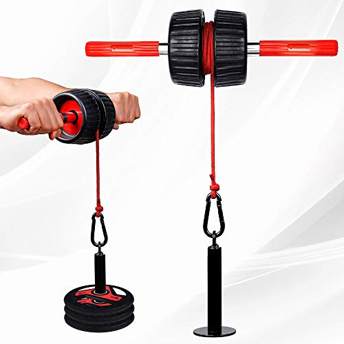 Legend Fitness Forearm Wrist Roller with 2 x Extra Rod