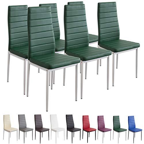 Albatros 2711 Milano Set de 6 sillas de Comedor, Verde