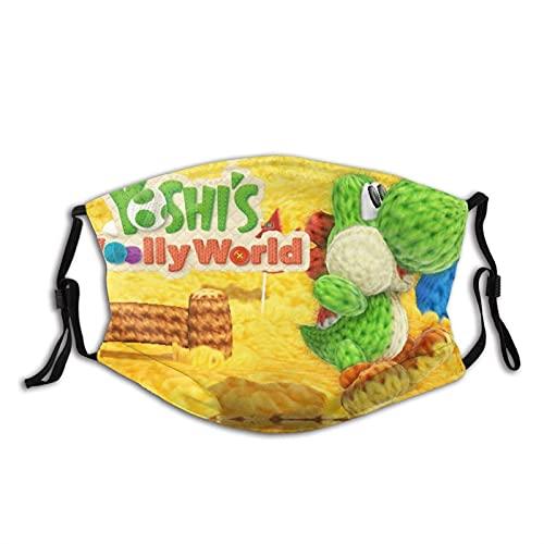 CDKZ Yoshi Intro Jump Máscara de polvo ajustable Pasamontañas Unisex con filtro Yoshi Introducción Jump3-Talla única