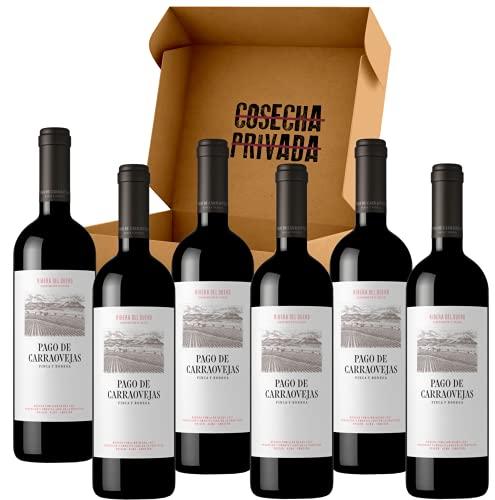 Pago de Carraovejas - Envío Gratis 24 H - 6 Botellas - Ribera del Duero - Estuche Regalo - Seleccionado y enviado por Cosecha Privada