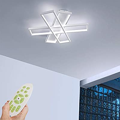 Ceiling Light LED Modern Living Room Light with Remote Control 68W LED 3 Light Design Ceiling Light Dimmable Ceiling Lamp Creative LED Close to Ceiling Lighting Lamp (White-dimmable)