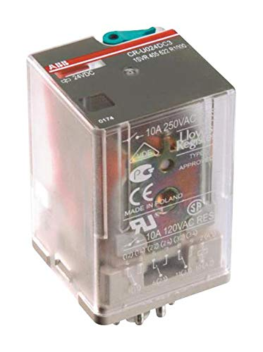 1SVR405622R2100 - Power Relay, 3PDT, 120 VAC, 10 A, CR-U Series, Socket, Non Latching, (Pack of 2)