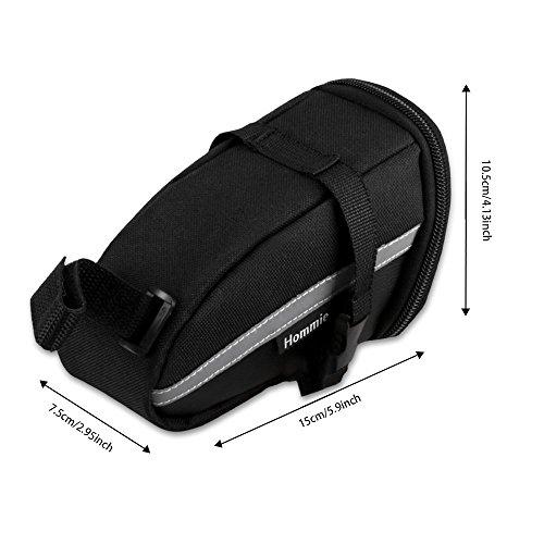 Hommie Bike Saddle Bag, Bike Bag with Bike Repair Tool Kits, Bicycle Repair Bag Bike Seat Saddle Wedge Pack Pannier Storage Bag, Multi-functional Bicycle Repair Tool Bike Tyre Repair Kits