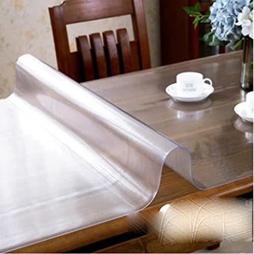 Mantel de PVC Transparente Transparente a Prueba de Agua y patrón de Cocina Aceite de Vidrio Mantel de Tela Suave 1.0 mm-patrón Esmerilado, 65x180cm