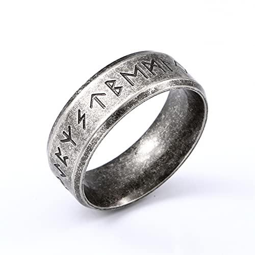 Earthily 2 unids, Hombres De Viking Bangle, Anillo de la Suerte, Anillo de mitología nórdico de la Vendimia, decoración nórdica de Vikingo, Anillo de símbolos afortunados, Anillos de Pareja, el Mejor
