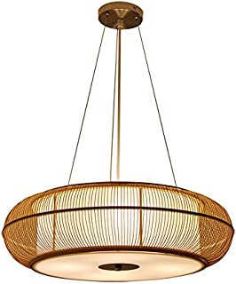 Japanese Style Hand-woven Bamboo Chandelier, Creative Hollow Chandeliers, PVC Lampshades, Living Room Balcony Bedroom Study Aisle Hallway Chandeliers, Bar Club Cafe Chandeliers, E27