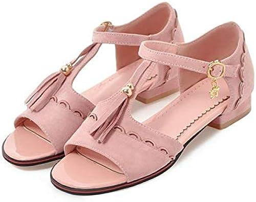 HommesGLTX Talon Aiguille Talons Hauts Sandales 2019 Nouveau Super Grand & Petit Taille 28-52 Sandales Chaussures Femme Style Summer Plateformes Y40 3 Rose