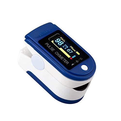 mimagogo Oxímetro de Dedo Monitor de saturación de oxígeno Monitor de oxígeno en Sangre Pulso de Dedo Bajo Voltaje de batería Frecuencia cardíaca