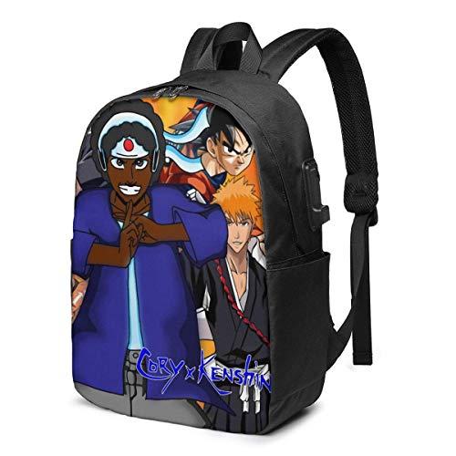 Mochila de 17 pulgadas ComputeB Cargador Bookbag Daypack Classic Man Girl Label Card Bag