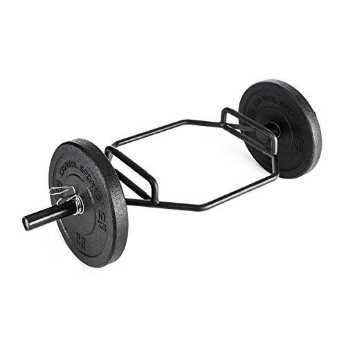 Capital Sports Beastbar Rahmenhantel - Hex Bar, Trap Bar, Deadliftbar, Eigengewicht: 21,5 kg, Tragkraft: max. 300 kg, 64cm Griffweite, Sleeve-Höhe 21,5 cm, 50mm Aufnahme, Vollstahl, schwarz