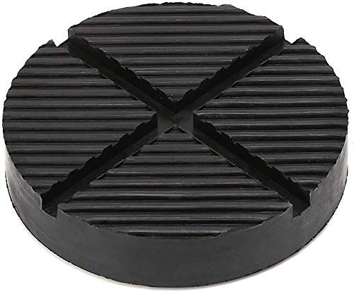 AWEIR Floor Jack Rubber Pad Jack Pad Cross grooved Floor Slotted Automotive Rubber Jack for Pinch Welding Side Universal Jack pad Adapter pad Diameter 125mm / 49.2 inches (1pcs)