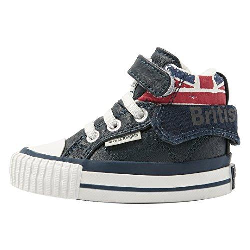 British Knights Unisex Baby Roco Krabbel- & Hausschuhe, Blau (Navy/Union Jack), 21 EU