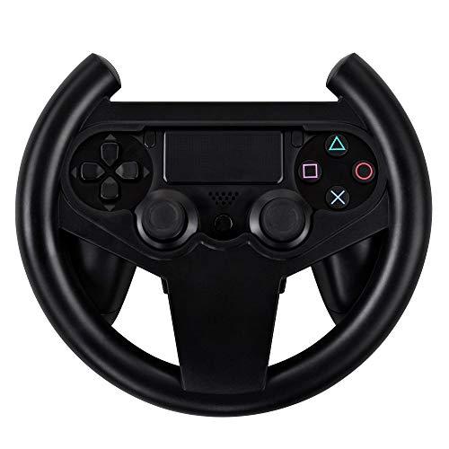 Jevogh Volante da gioco PS4, GR62 Volante da Corsa per controller Gamepad Sony PS4, per controller da impugnatura Joypad per PlayStation 4 - Nero (Prodotto da terze parti)