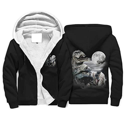 Three Moon Neuheit Casual Fleece Gefüttert Winter Full Zip Hoodie mit Fronttasche für Son Tochter Gr. M, weiß