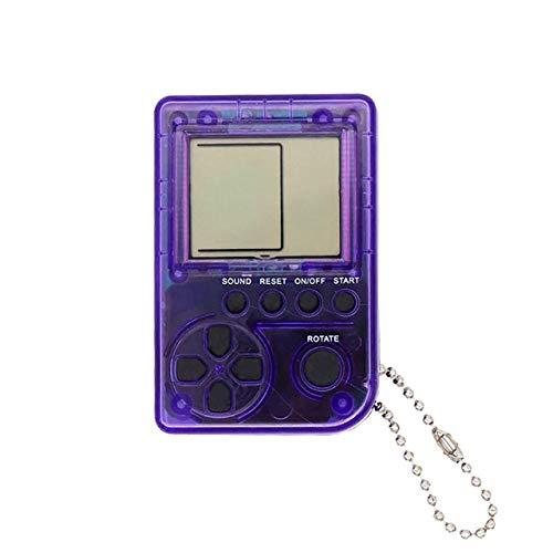elegantstunning Mini Classic Game m-a-Chine - Mini Console Portatile per Bambini, Stile retrò, nostalgico, con Portachiavi, Colore: Viola