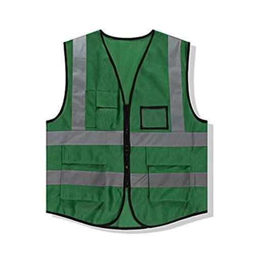 Safety Vests DBL Chaleco de alta visibilidad verde Ligero y transpirable Ropa de trabajo Viaje por la noche Seguridad Chaleco reflectante de seguridad chalecos de seguridad