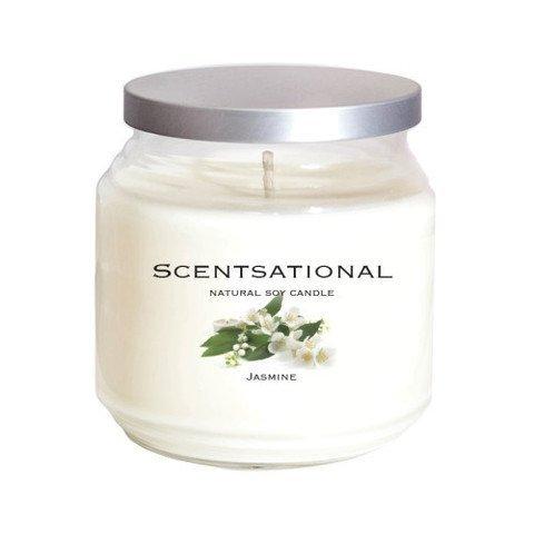 Scentsational Candles Jasmine Jar Candle, White