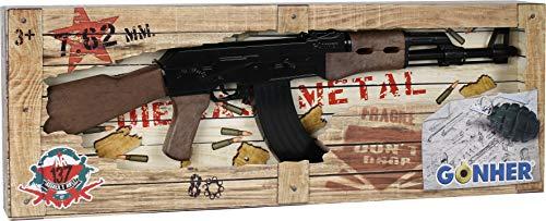 Gonher-metralla AK 47, Color Negro, sin Talla (37-137)