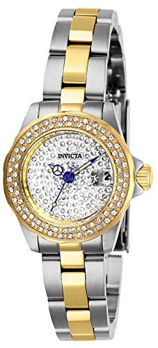 Invicta 28454 Angel Reloj para Mujer acero inoxidable Cuarzo Esfera plata