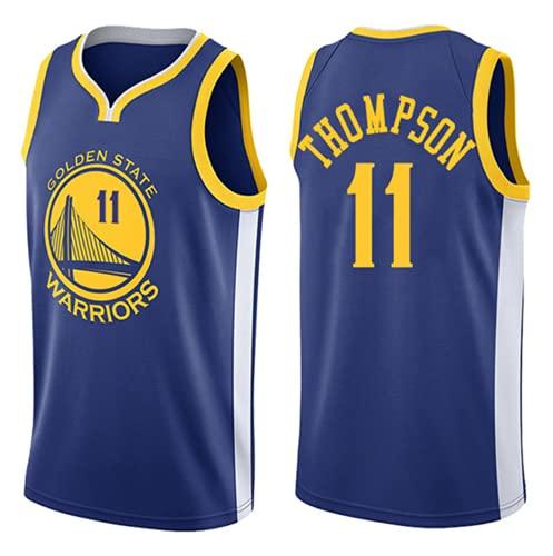 XHDH Jersey Men's - NBA Thompson # 11 Golden State Warriors Casual Baloncesto Uniforme de Baloncesto Uniforme Suelto y cómodo Chaleco Deportivo sin Mangas Top Camisetas,Azul,XL 180~185cm