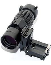 Noga - Lupa táctica 3X con soporte lateral para riel de 20 mm
