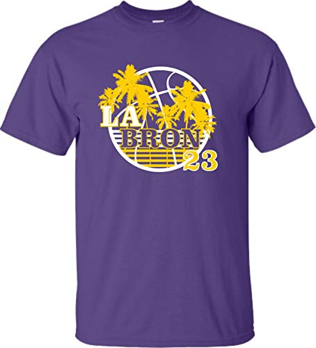 Go All Out Small Purple Adult LA Bron Los Angeles 23 T-Shirt
