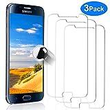YIEASY 3 Pack Protector de Pantalla para Samsung Galaxy S6 Templado 9H 3D Tech Sin Burbuja Ultra-Delgada Anti-Rayado Anti-Huella Digital Película de Vidrio para Samsung Galaxy S6 Transparent