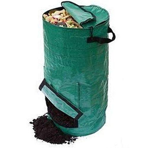 Save %26 Now! Ez4garden Reuseable Heavy Duty Garden Leaf Waste Bag Yard Compost Bin Composting Fruit...