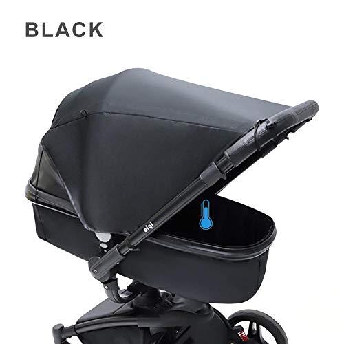 Baby Stroller Sunshade Cover Pare-soleils et ombrelles avec protection UV, auvent universel d'ombre de soleil de poussette