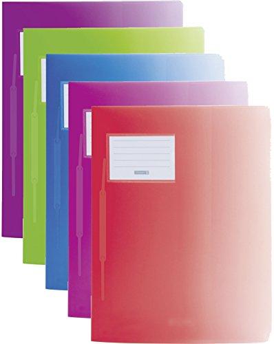 Baier & Schneider Schnellhefter FACT! Colour Code, Kunststoff, 240 x 313 mm (5er Pack, Ladys Edition)