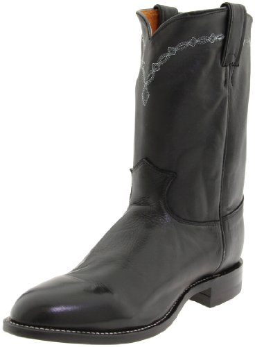 Justin Boots Men's 10' Ropers Round-toe Boot black Size: 9.5