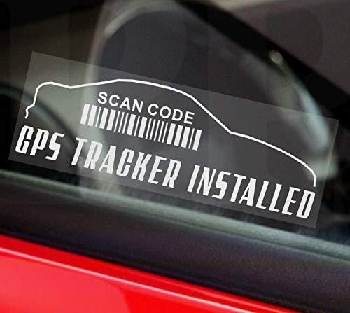 5x GPS-Tracking Gerät Sicherheit Fenster stickers-outline design-87X 30mm-car, Van, Taxi, Mini Cab, CAB, LKW, Transport, Coach, Bus, Minibus ACHTUNG Tracker Schilder