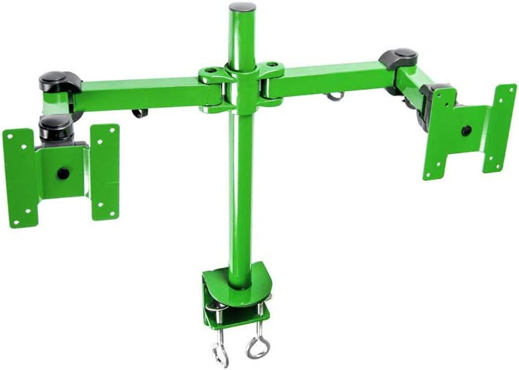 MonMount Dual LCD Monitor Stand Desk Clamp Holds Up to 24-Inch LCD Monitors, Green (LCD-194G)