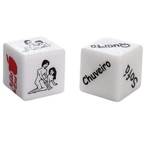 Dados Erótico do Prazer Hétero Duplo diversão ao Cubo