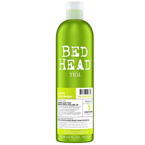 Bed Head by Tigi – Urban Antidotes Re-Energize, acondicionador para pelo normal, 750 ml