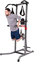 Body Champ VKR1987 5-in-1 Power Tower and Dip Station, Home Gym Equipment