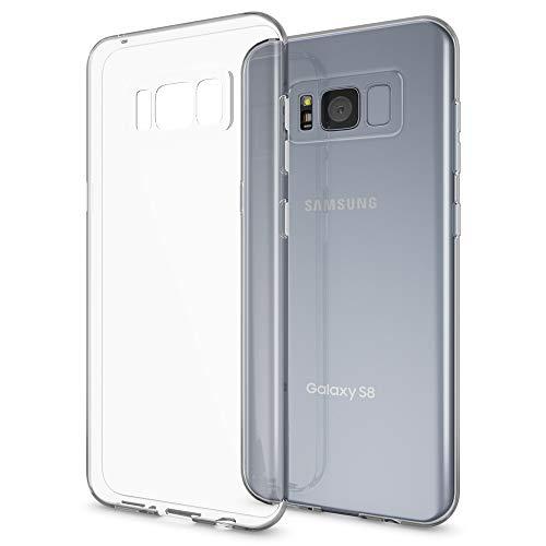 NALIA Funda Carcasa Compatible con Samsung Galaxy S8, Protectora Movil Silicona Ultra-Fina Gel Cubierta Estuche, Goma Bumper Phone Cover Cobertura Delgado Claro Case Cristal Clear - Transparente